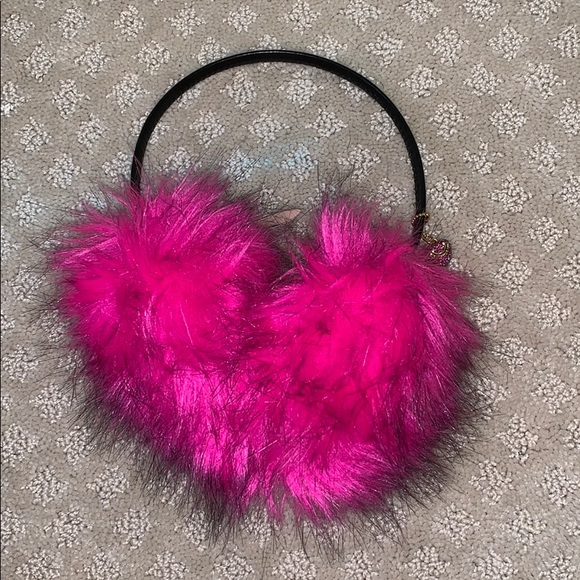 Juicy Couture Other - Amazing Juicy Couture hot pink ear muffs💗🤩